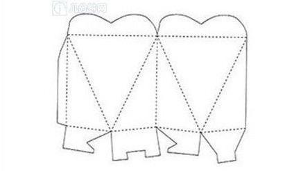 ギフトボックスの展開図12