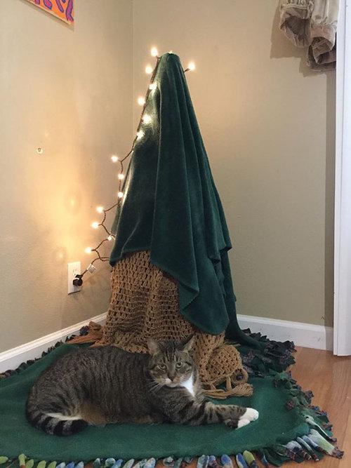 ペットからクリスマスツリーを守る戦い07