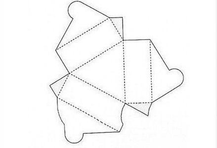 ギフトボックスの展開図10
