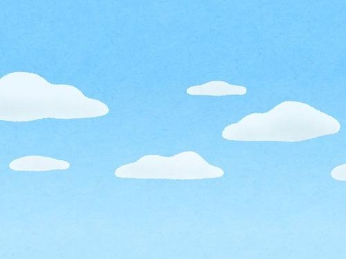 球体の雲が浮かんでる
