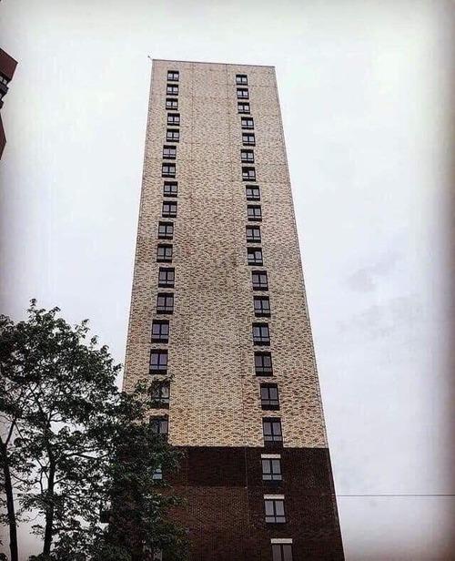 このビルの窓の並びを見て落ち着かない01