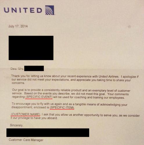 ユナイテッド航空の謝罪のしかた01