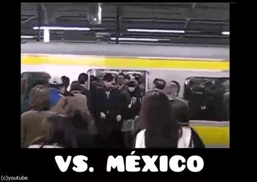 「日本の満員電車とメキシコの満員電車」01