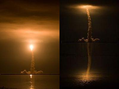 夜のスペースシャトル打ち上げTOP