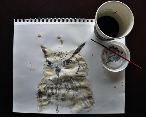コーヒーでアート01