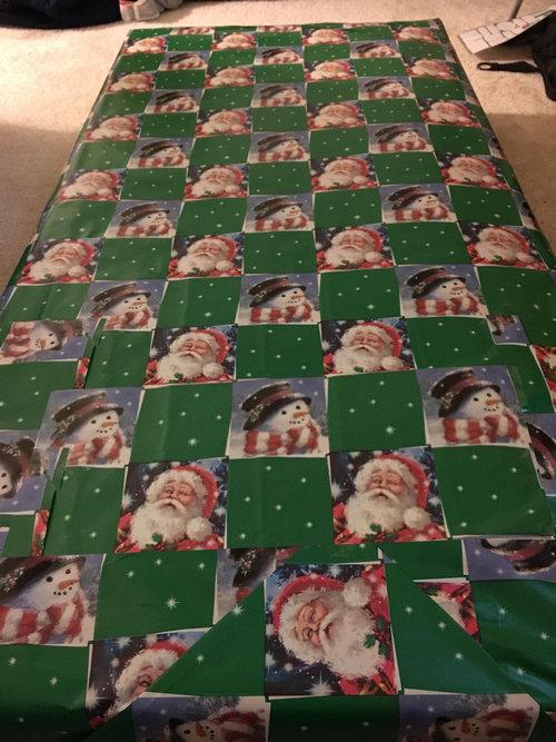 クリスマスの包装紙が足りないとき04