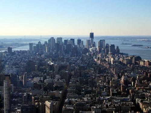 ニューヨーク全体を上空から