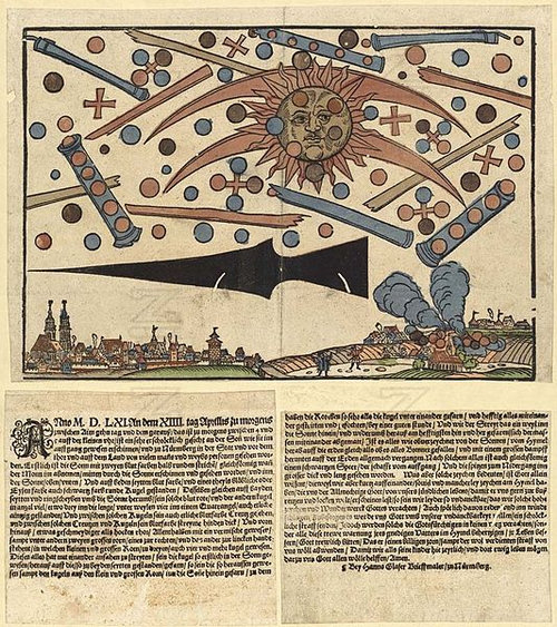 1561年の上空で謎の飛行物体が戦った記録04