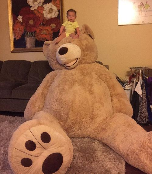 おじいちゃんが、孫娘のために巨大テディベアを買う04