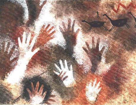 ラス・マノス洞窟の手形04