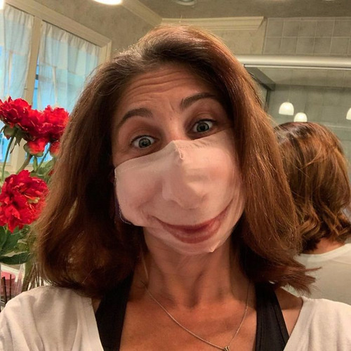 口元の印刷をしたマスク03