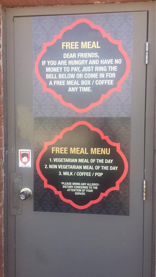 レストランの裏戸のサイン02