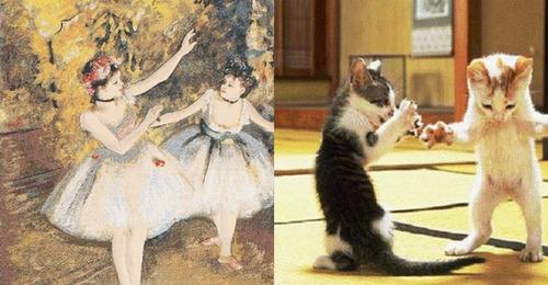 猫で再現するあの名画15