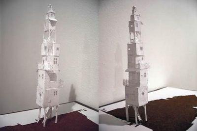 美しく繊細なペーパーアートの世界-高層ビル