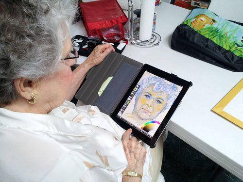 おばあちゃんがiPadを初めて使った01