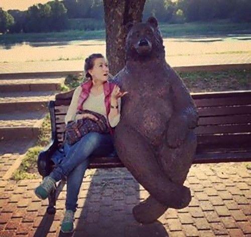 ロシアのクマの像05