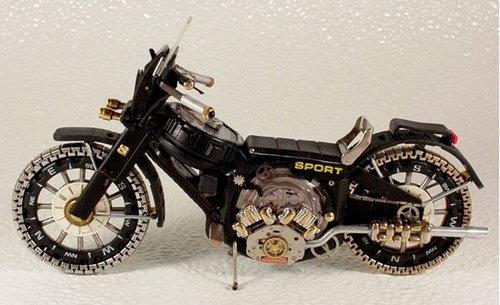時計で作ったバイク20