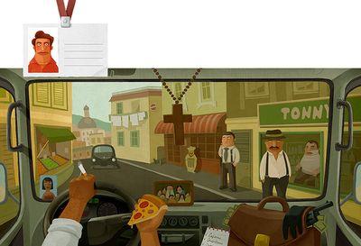 車の運転席から見る世界各国のイメージ10