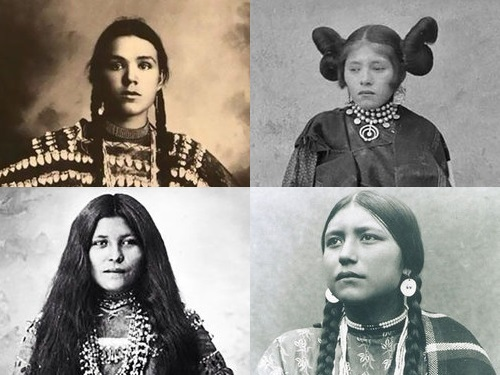 インディアンの10代少女たち…民族衣装を着た
