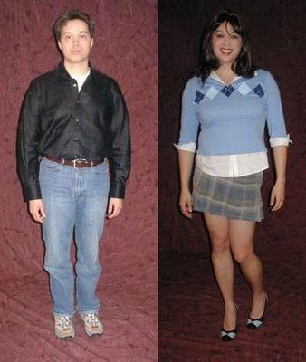 一般の男性を女装させると08