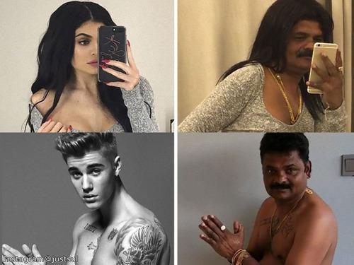 有名人を真似するインドの44歳