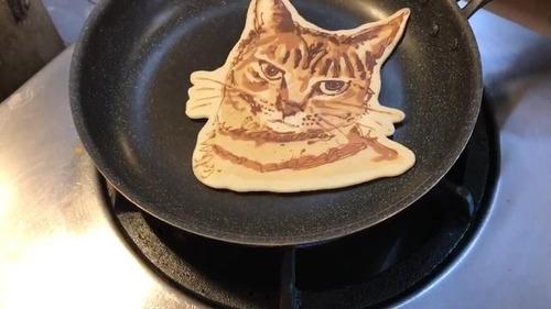 猫のパンケーキアートすごい02