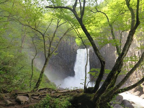 美しい日本の長野県の滝01