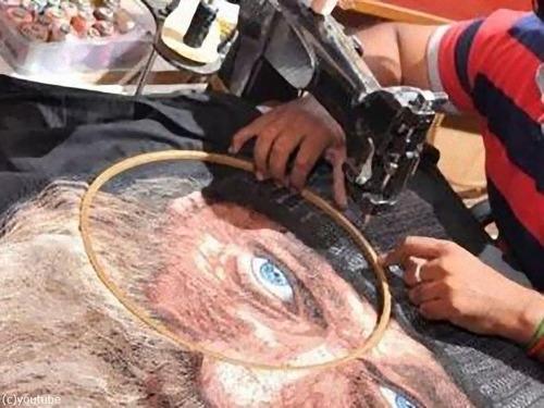 世界で唯一のミシン画家07