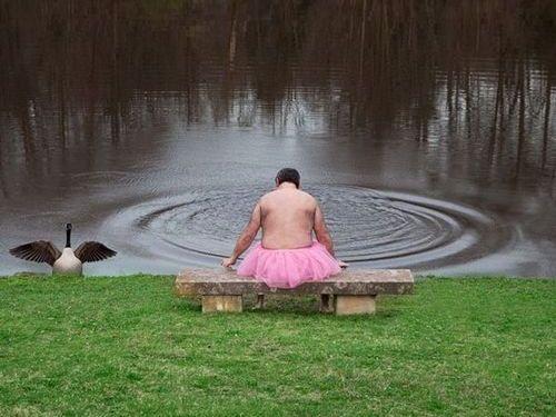 ピンクのチュチュを着る夫01