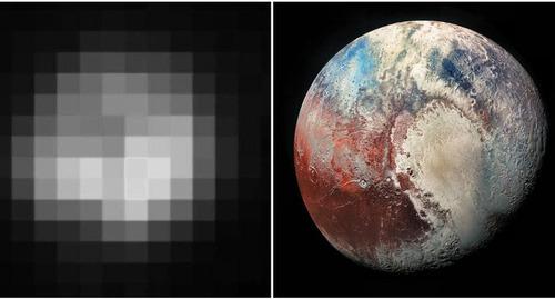 1994年と2018年の冥王星01