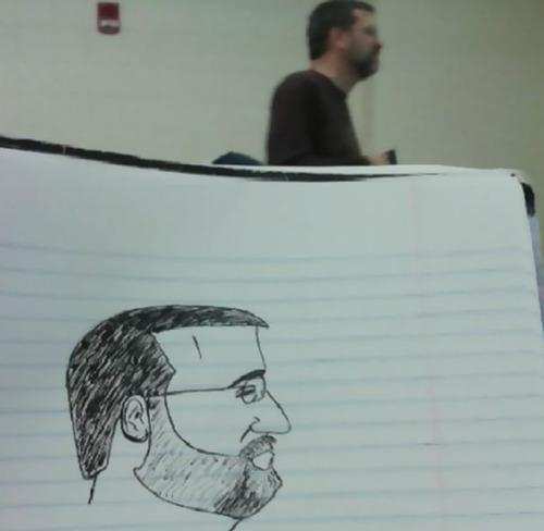 授業中に先生の似顔絵を描き続けた結果00