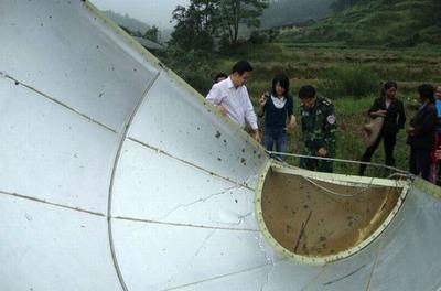中国のロケットの落下物04