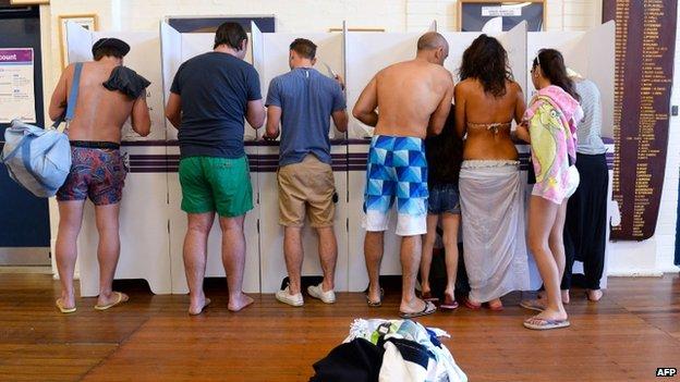 「さすがオーストラリアだ…」と話題を呼んでいた選挙風景の写真