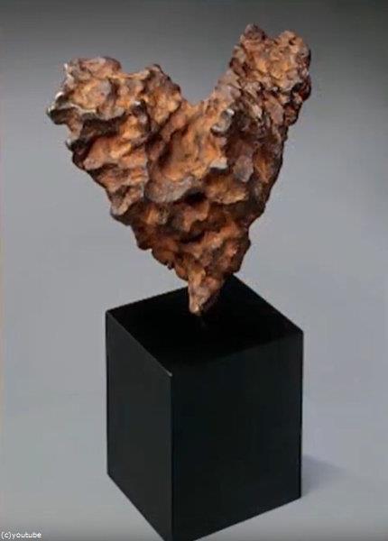 ハート型の隕石が競売に02