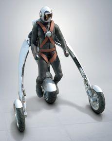 変形・装着するバイク05