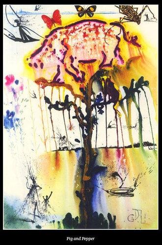 ダリが描いた不思議の国のアリス07