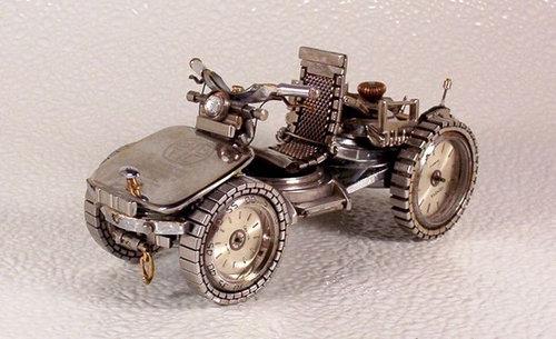 時計で作ったバイク08
