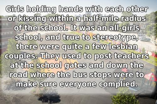 学校で禁止されたありえないルール15
