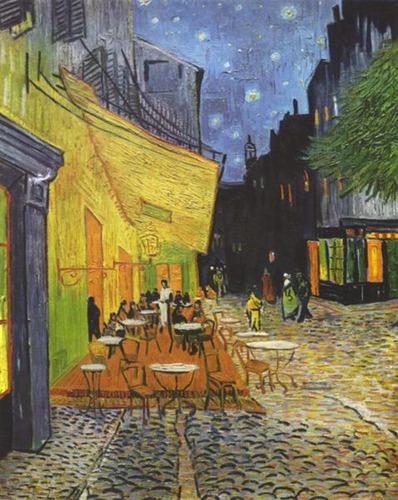 ゴッホ「夜のカフェテラス」01