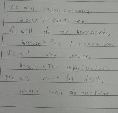 日本の中学生に英語の課題01