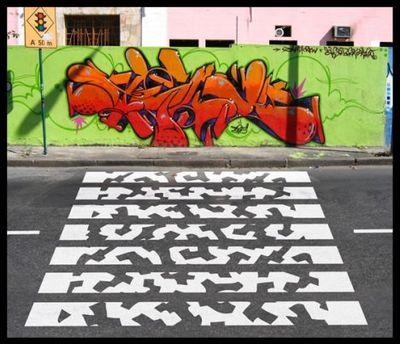 アートな横断歩道05
