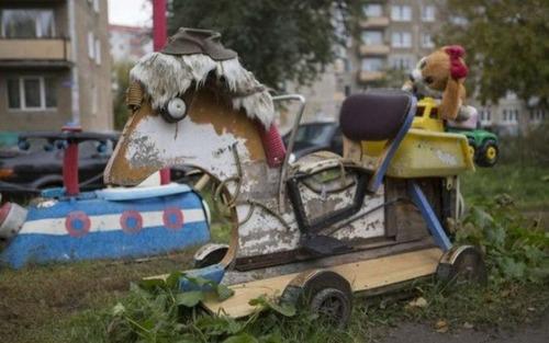 ロシアの遊具、手作り編18