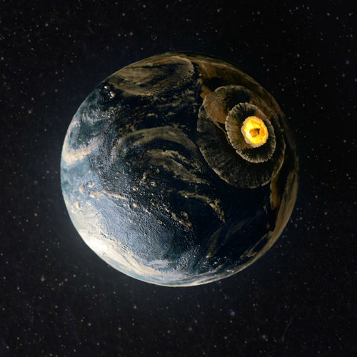 地球に隕石衝突ケーキ03