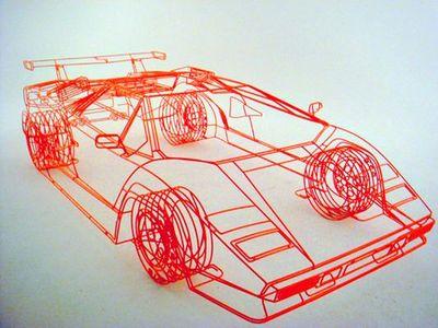 ワイヤーフレームの車07
