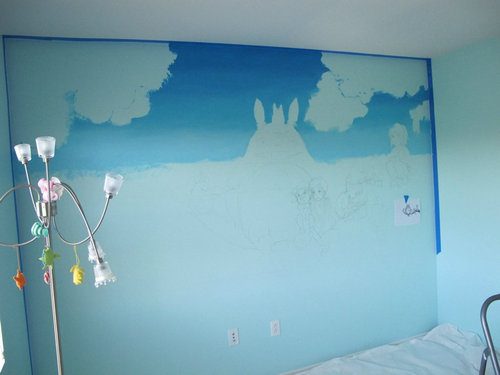 子供部屋に描いたジブリ02