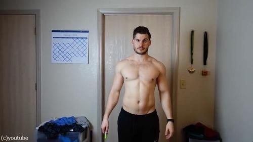男性の3か月のダイエット動画05