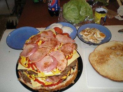 巨大ハンバーガー09