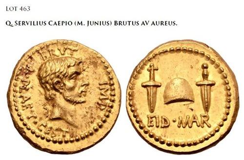 紀元前のカエサル暗殺を記念した金貨、3億6500万円で落札01