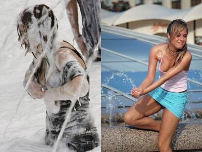 噴水でずぶ濡れロシアの美少女00