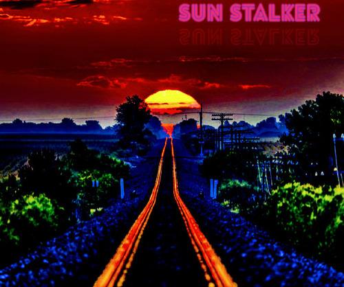 線路に反射する朝日06
